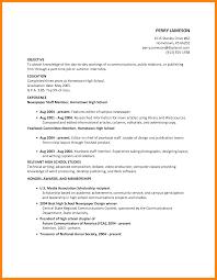 6 Summer Job Resume Objective Apgar Score Chart