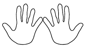 Small Picture Learn Colors Coloring Pages Hands How to Draw Hand for Kids and