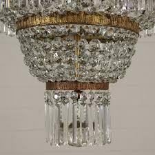Imperium Stil Kronleuchter Messing Glas Italien 20