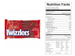 twizzlers strawberry twists nutritional facts