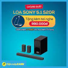 Điện máy XANH (dienmayxanh.com) - 💥 DUY NHẤT CHỈ CÓ 250 SUẤT 🎶🎶 Sắm Loa  Sony 5.1 S20R 🎁 Tặng kèm tai nghe trị giá 990,000đ 🎊 Giảm thêm 2 triệu khi