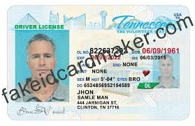 License Card - Drivers Virtual Maker Id Fake Tennessee