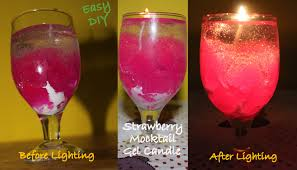view in gallery strawberry mocktail gel candle
