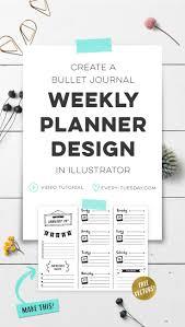 Design A Journal Create A Bullet Journal Weekly Planner Design In Illustrator