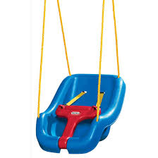 Amazon.com: Little Tikes 2 -in- 1 Snug 'n Secure Grow With Me Swing ...