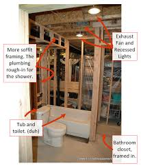 toilet rough in plumbing framing costs for bathroom