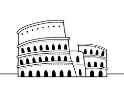 Disegno Di Il Colosseo Di Roma Da Colorare Stampare O Scaricare