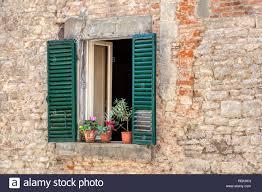 Foto Wurde Von Einem Rustikalen Verwitterte Fenster Mit Blass Grün
