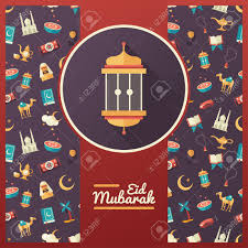 set of modern vector flat design postcard template icons set of modern vector flat design postcard template icons of islamic holiday culture