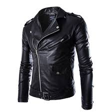mountainskin men s pu leather jacket spring autumn fashion coats korean style motorcycle jackets intl