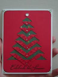 Creative Christmas Cards Handmade Christmas Card Clean And Simple Cut And Folded