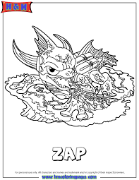 Small Picture Skylanders Giants Water Series2 Zap Coloring Page H M Coloring