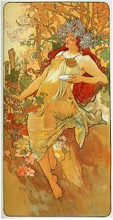 date 1896 style art nouveau modern series the seasons genre allegorical painting technique oil gallery private collection tags female portraits