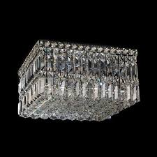 large square k9 crystal ceiling fitting