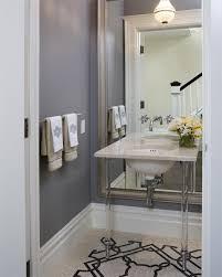 mirror paint for wallsBeveled Floor Mirror  Transitional  bathroom  Tish Key Interior