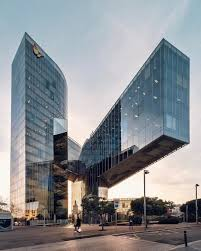 Gas Natural Headquarters in Barcelona (Spain), designed by Miralles  Tagliabue (the most impressive cantilever I've ever seen in person)  [1080x1349] ...