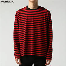 Black and red striped long sleeve