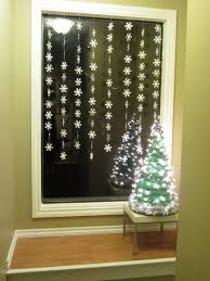 decorating elegant christmas window decorations featuring white