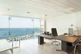 private office design. office building interior design executive interoior room overlooking outdoor sea views private