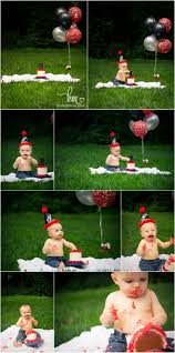Red And Black Cake Smash Session Outdoors Outdoor Cake Smash