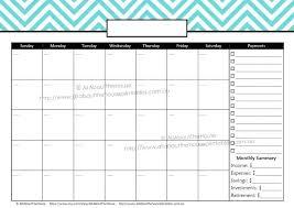 Bills Calendar Template Bill Pay Monthly Payment Paying Templates