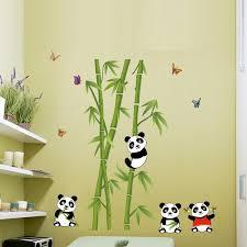 Charming Cute Panda Bamboo DIY Vinyl Wall Stickers Home Decor Art Decals Wallpaper  Bedroom Sofa House