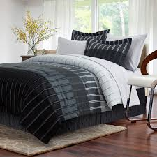 ombre stripe 6 piece grey twin bed in bag set