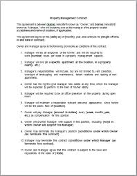 Management Contract Template Contract Templates