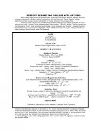 The Most Amazing College Application Resume Examples For High School