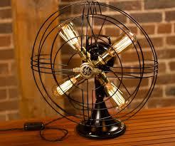 edison table lamp vintage home lighting. GE Vintage Edison Fan Lamp Edison Table Lamp Vintage Home Lighting