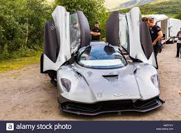 Filming In The Scottish Highlands For The Bond 25 Film The Car Is An Aston Martin Valhalla Stock Photo Alamy