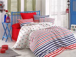 clup dark blue single quilt cover set fr 143epj31851 dark blue red white