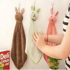 hanging towel. Fun \u0026 Dry Cartoon Cute Lovely Rabbits Hanging Towel Animals Baby Hand Bath Towels For Kids Hiigh Quality Bathroom Online From