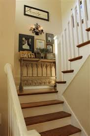 decorating a stairwell landing my foyer small hallways tables and collage