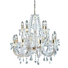 large chandelier gold brass crystal and antique made in spain