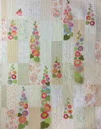 992 best quilting and patchwork images on Pinterest | Artesanato ... & Grandmothers Hollyhock Flowers Quilt Kit Adamdwight.com