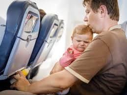 baby crying airplane