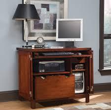 Living Room Computer Desk Furniture Vintage Small Computer Desk With File Storage And Black
