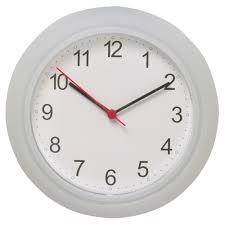 White Kitchen Wall Clocks Rusch Wall Clock Ikea
