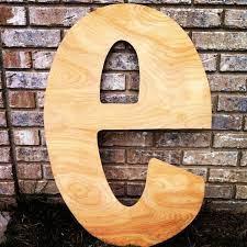 diy wooden letter