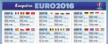 Print Out Your Own Euro 2016 Wallchart Esquire Middle East