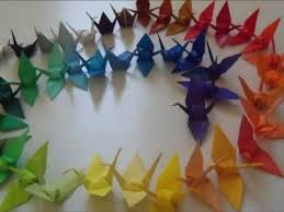 how to origami crane mobile