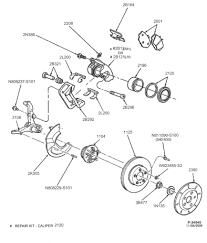 Below is an exploded view of the front brake system in a 98' crown vic