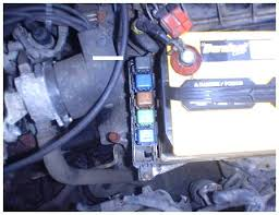 nissan sentra starter problem the inhibitor relay is gray it is held in place a plastic snap use a small screwdriver to force the snap away from the housing while pulling the