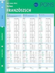 Pons Verben Auf Einen Blick Franz Sisch Kompakte Bersicht