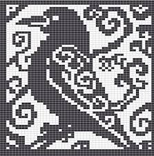 Ravelry Spirit Raven Knitting Charts Pattern By Melanie