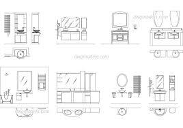 Lavatory and bathroom elevation DWG, free CAD Blocks download