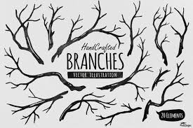Hand Crafted Tree Branches Vector By Yandidesigns On Envato Elements