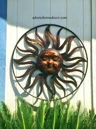 metal outdoor wall decor outdoor sun face wall art lovely sun wall decor outdoor sun face