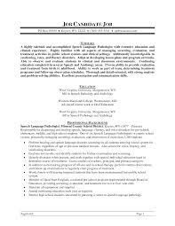 speech therapist resume objective cipanewsletter speech language pathology resume getessay biz